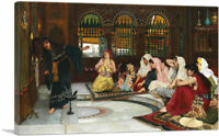 ARTCANVAS Consulting the Oracle 1884 Canvas Art Print by John William Waterhouse