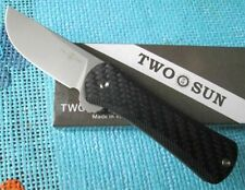 Tepe Designs TwoSun Camping S90V Carbon Fiber Flipper Pocket Knife TS128 Dynamo