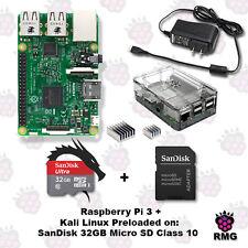 Raspberry Pi 3 With Kali Linux Preloaded SanDisk 32GB Micro SD C10 / Basic Kit