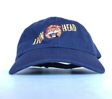 Gilmore Oil Co Lion Head (Motor Oil) Navy Blue Baseball Cap Hat Adj Men's Cotton