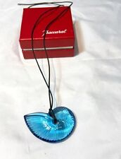 Baccarat Pendant Necklace Shell Light Blue - Coquille - Pendente Conchiglia NEW