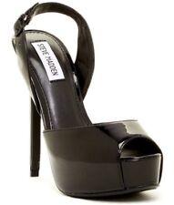 Steve Madden Women's Black Abrill Peep Toe Heel Sz 8M D5