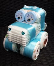 Süß ein Auto aus Windeln Windelauto Windeltorte Streifenwagen