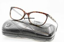 CHANEL 3305B 714 Tortoise Bijou Rectangular 54mm Rx Eyeglasses NWT AUTH