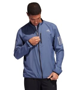 ADIDAS OWN THE RUN REFLECTIVE RUNNING RAIN JACKET BLUE INK DZ2314 MENS SIZE XL
