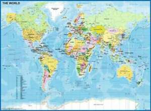 Ravensburger - Map of The World 200pc Jigsaw Puzzle