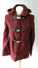 TOPSHOP WOMENS STUNNING WOOL BLEND DUFFLE STYLE HOODED COAT JACKET SIZE 8