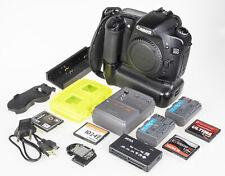Canon EOS 30D +BG-E2 grip, 2×batt, 4GB CF, USB cable, card reader | excellent c.