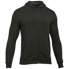 Under Armour Rival Fitted Full Zip Felpa Uomo Verde Militare Large
