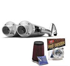 HMF Performance Slip On Exhaust Muffler Brush Pro Design K&N Filter RZR 900XP