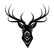 DEER WITH LARGE ANTLERS  CAR DECAL STICKER