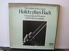 RCA RED SEAL Heifetz plays BACH Violinist of the Century 3 VINYL LP Free UK post