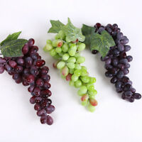 Artificial Grapes Lifelike Plastic Fake Fruit Home Decoration Bunch Props Party