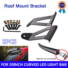 """Roof Windshield Mount Bracket 50"""" Curved LED Light Bar For 84-01 Jeep Cherokee"""