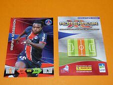 SESSEGNON PARIS SAINT-GERMAIN PSG  FOOTBALL FOOT ADRENALYN CARD PANINI 2010-2011