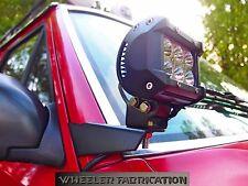 Wheeler Fabrication 84-01 Jeep Cherokee XJ/MJ A-Pillar Light Mount Bracket Kit