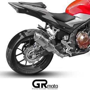 Exhaust for Honda CB500 F / CB500 X / CBR500 R 13 - 21 GRmoto Muffler Titanium
