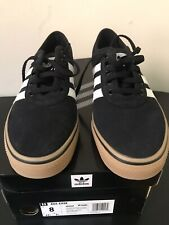 Mens Adidas Adi-Ease Skateboarding Shoes Size 8 Black Gum Sole New In Box