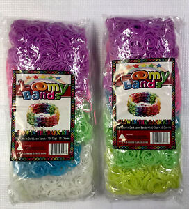 Loomy Bands 3000 Glow in Dark  Loom  Bands with Clips and Charms 2 Pack