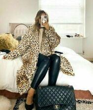 In stock! H&M HM TREND Faux Fur Oversized Coat Ocelot Leopard M
