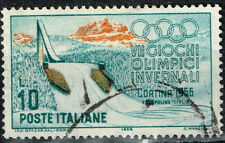 Italy Winter Olympics Cortina Famous Trampline Italia in mountains stamp 1956