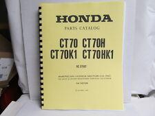 Honda Ct70 Thru Ct70Hk1 Parts Catalog Manual