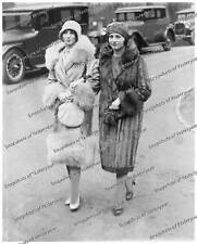 Vintage photo-Two women wearing furs and hats-8x10 in.