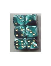 NEW Dice Set of 6 D6 (15mm) - Marble Green