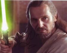 Liam Neeson Signed Autographed 8x10 Star Wars Qui-Gon Jinn Photograph