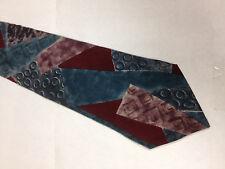 Mens Red Teal Purple SILK Tie Necktie OSCAR DE LA RENTA~ FREE US SHIP (11839)