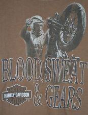 Harley Davidson Denney's Springfield Missouri T Shirt M Blood Sweat Gears C9