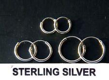 Sterling Silver hoop earrings  8mm,10mm and 12mm Set