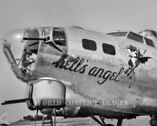 USAAF WW2 B-17 Bomber Hell's Angel 8x10 Photo 381st BG WWII