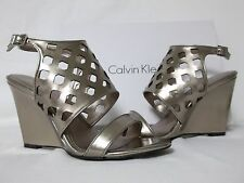 Calvin Klein Size 8.5 M Meron Ematite Open Toe Wedges New Womens Shoes