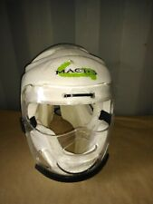 Macho Martial Arts Helmet With Face Mask White-Large