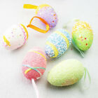 6Pcs Foam Easter Eggs Hanging Wreaths Decorations Ornaments Party Home