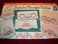 1930s-1940s SUPERIOR #158 - FLOWER BASKET-HOT IRON EMBROIDERY TRANSFER PATTERNuc