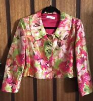 Near New Alannah Hill Kill Me With Flowers Jacket - 100% Silk - Size 12