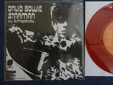 "David Bowie- Starman Repro 7"" limited edition RED VINYL! Glam Slade T-Rex Queen"