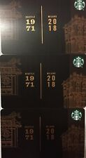 "Lot 3 Starbucks ""SEATTLE / MILANO"" 2018 Recycled Paper Edition gift card set NEW"