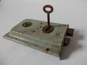 Reclaimed Vintage Rim Lock Latch & Key (No Keep) #1619