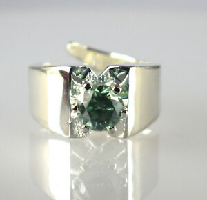 New Design Gray Diamond Solitaire 3.71 Ct Round Ring Very Shinny & Lustrous