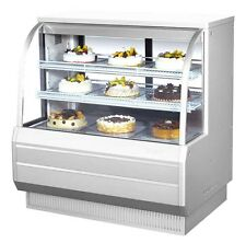 "Turbo Air 48.5"" Curved Glass Refrigerated Bakery Display Case Cooler Tcgb-48-2"
