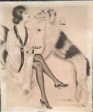 Russian wolfhound Greyhound Wolf hound Erotik Hund Windhund Barsoi Lady Neglige