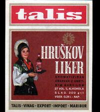 """ETIQUETTE ANCIENNE de LIQUEUR """"TALIS"""" de HRUSKOV / MARIBOR"""