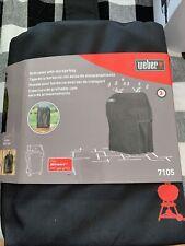 Weber 7105 Premium Grill Cover - with storage bag Black fits spirit 210