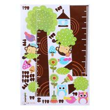 Tabla de crecimiento de altura búho árbol Pegatinas De Pared Calcomanía Decoración para niño extraíble BH medida