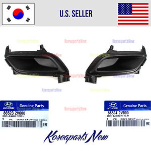 Front Bumper Blank Fog Lamp Covers Left + Right 2pc fits Veloster Base 2012-2017