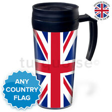 Personalised Thermal Mug Coffee Travel Flask Cup | UK Union Jack England Flag