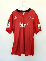 Canterbury Crusaders BNZ Super Rugby Chainmail Red Rugby Jersey Adidas 3XL